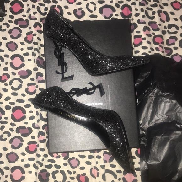 ysl glitter shoes